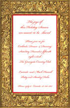Stylish Baroque Gold Frame Invitation