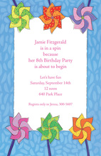 Pinwheels In A Spin Invitation