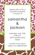 Contemporary Wild Pink Leopard Invitation