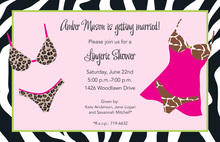 Sexy Wild Lingerie Shower Invitations