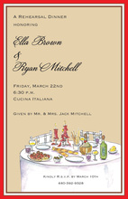 Elegant Italian Dinner Invitations