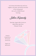 Big Bling Rock In Pink Invitation