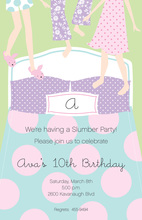 Slumber Feet Invitations