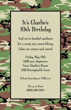 Outdoor Camo Border Invitations