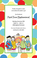 Little Artists Invitations
