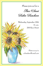 Beautiful Formal Sunflowers Invitation