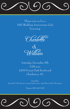 Fancy Antique Scroll Invitation
