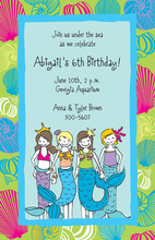 Little Mermaids Invitation