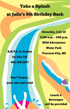 Water Slide Invitation