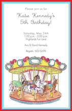 Kids Carousel Invitations