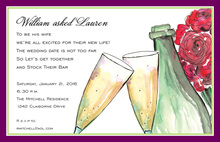 Roses Sparkles Celebration Invitations
