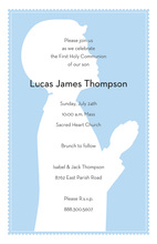 Praying Boy Communion Invitation