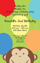 Peeking Monkey Invitations