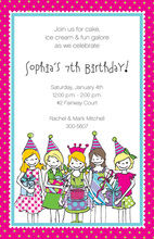 Little Girls Get Together Invitation