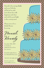 Sunflower Cake Shower Invitations