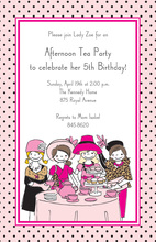 Having Little Tea Party Here Special Invites