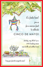 Unique Watercolor Cinco de Mayo Invitation
