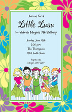 Little Luau Invitation
