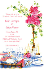 Formal Glassware Table Party Invitations