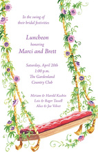 Decorated Floral Swing Invitation
