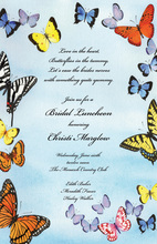 Butterfly Wings In The Sky Invitation