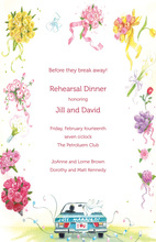 Blooming Bouquets Honeymoon Send-off Invitation