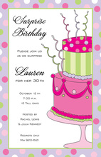Fun Crazy Cake Birthday Invitations