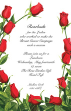 Romantic Elegant Rose Buds Invitation