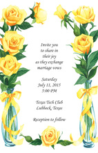 Elegant Yellow Roses Invitation