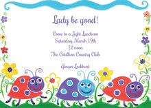 Smiling Lady Bug Everywhere Invitations