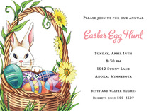 Decorated Bunny Hunt Invitations