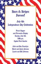American Flag Glory Days Invitation