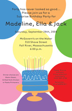 Birthday Cake Large Polka Dot Invitations