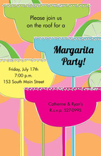 Tall Margaritas Cocktail Night Invitations