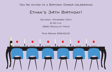 Modern Casual Long Table Dinner Invitations