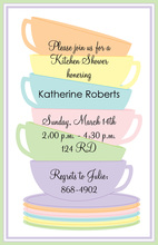 Colorful Sip Stack Tea Invitation