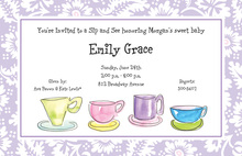 Four Teacups Invitation