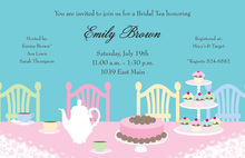 Traditional Tea Table Invitations