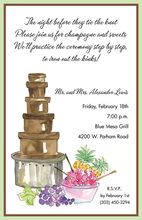 Chocolate Fountain Birthday Cake Invitation