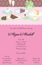 Formal Dessert Table Invitations
