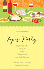 Delicious Tapas Table Dinner Invitations