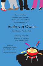 Fondue Ankles Outdoor Party Invitations