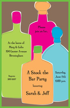 Bright Colorful Liquor Bottles Invitation