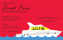 Nautical Boat Party Yacht Invitations