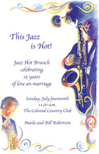 Contemporary Modern Jazz Age Invitations
