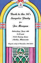 Music Juke Box Oldies Invitations