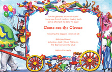 Acrobat Circus Wagon Invitation