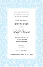 Textile Blue Invitations