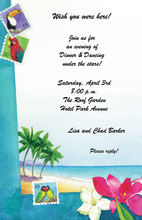Tropic Dreams Stamp Collection Invitation