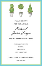 Classic Trio Topiaries Invitation